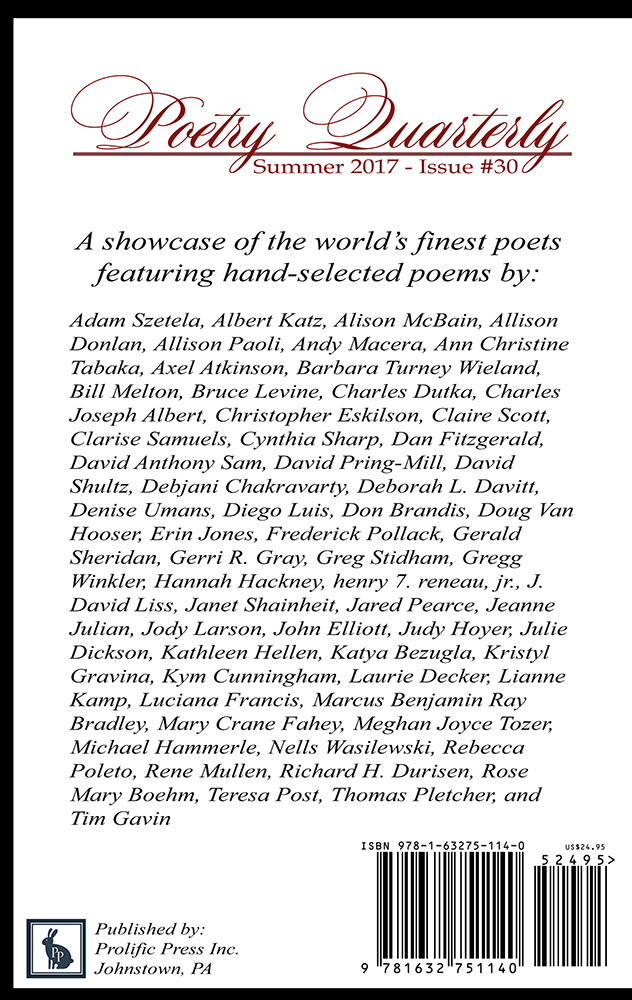 Poetry Quarterly Summer 2017 - Click Image to Close